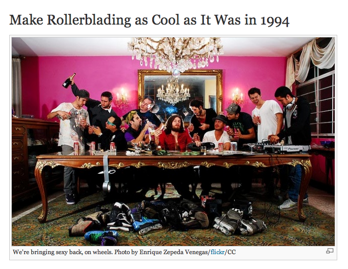 WIRED: Make Rollerblading as Cool as It Was in 1994