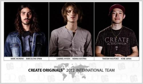 Create Originals Announces International Pro Team