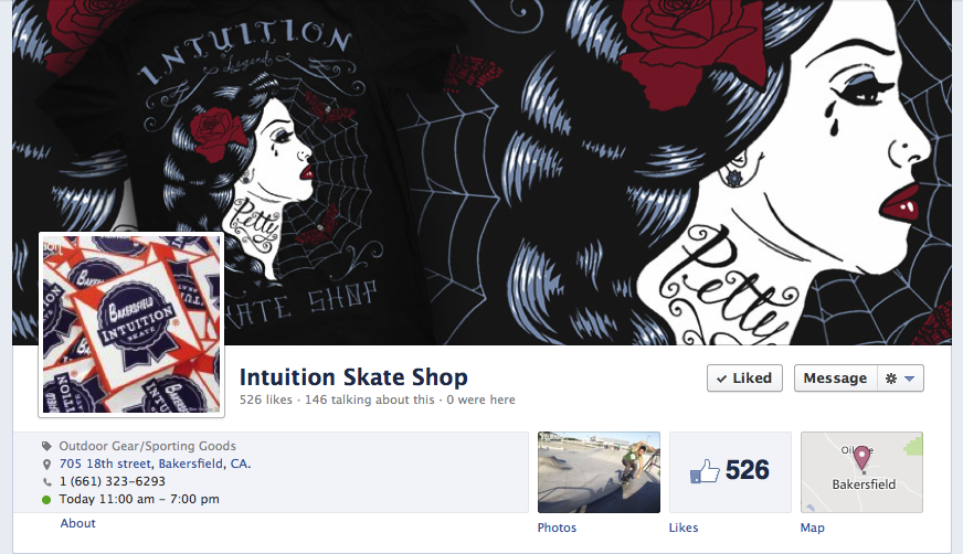 New Intuition Skate Shop FB Page
