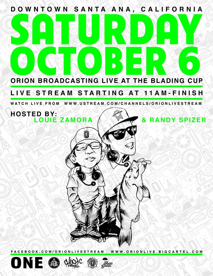 Orion Live to Stream from Blading Cup