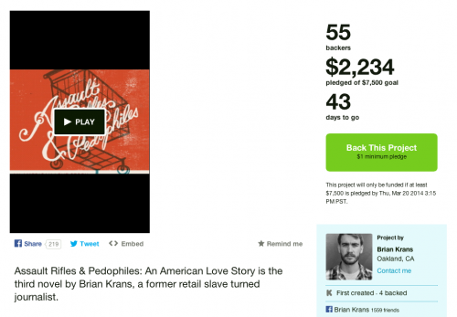 Kickstart Brian Krans' new book