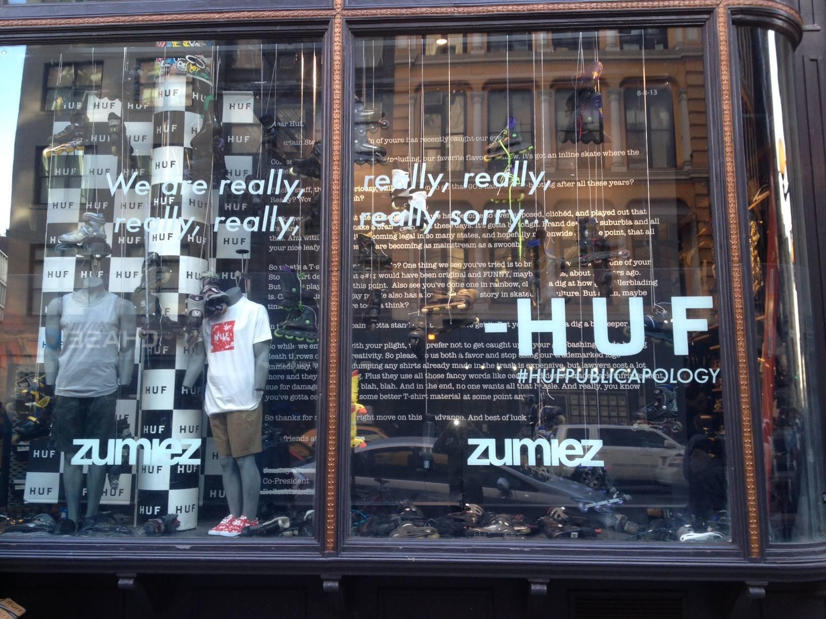 HUF displays blades at Zumiez NYC