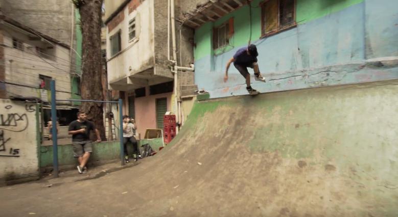 Skating Favela La Rocinha in Rio De Janeiro