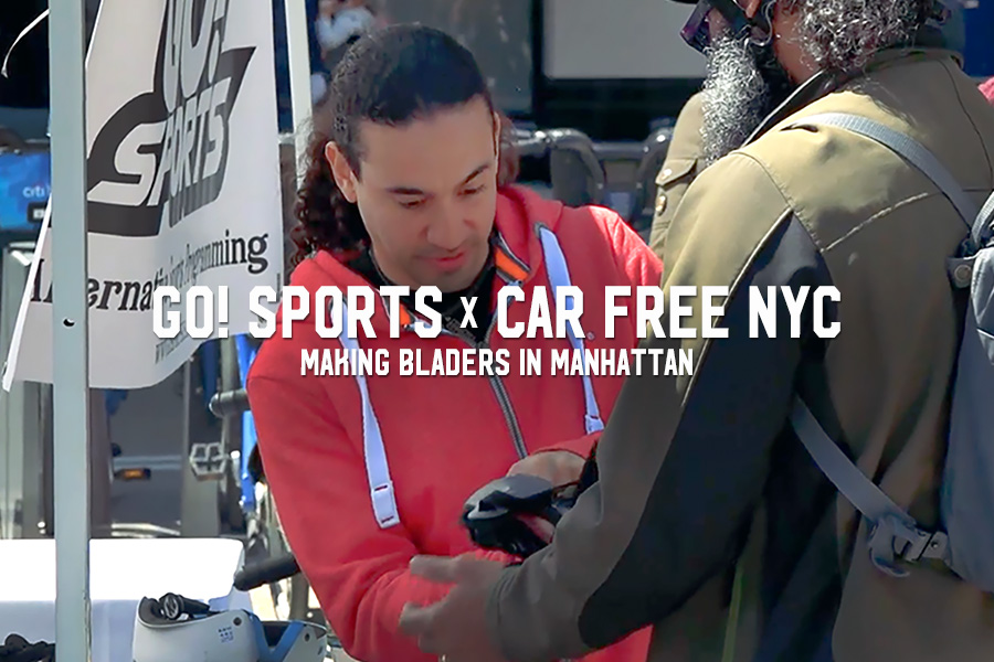 Go! Sports x Car Free NYC: Making Bladers in Manhattan